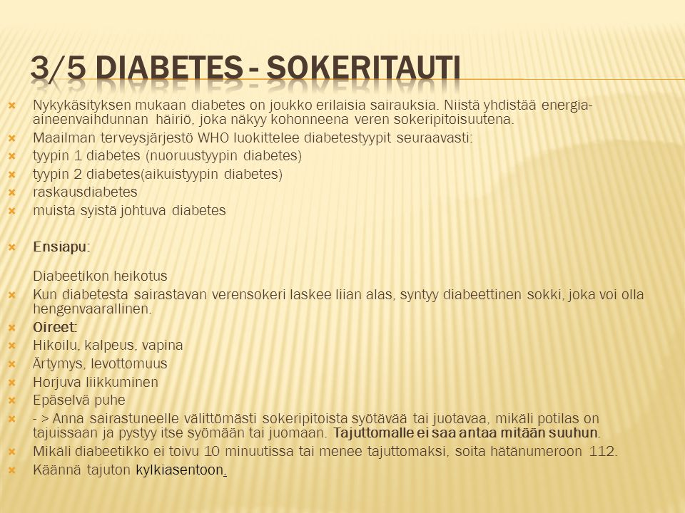 3/5 diabetes - sokeritauti