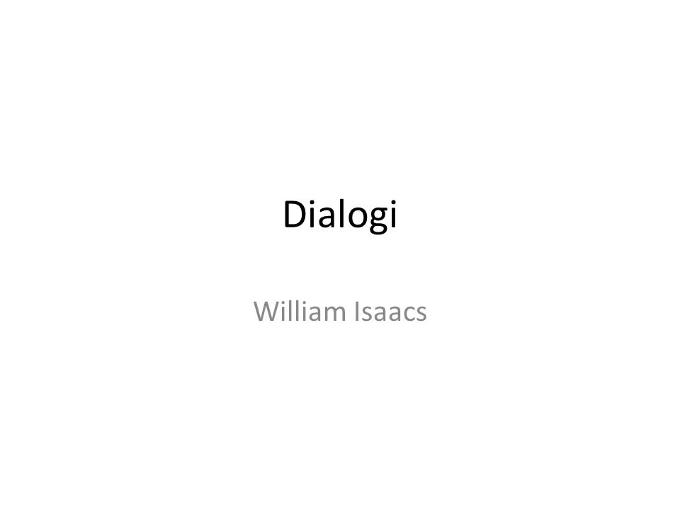 Dialogi William Isaacs