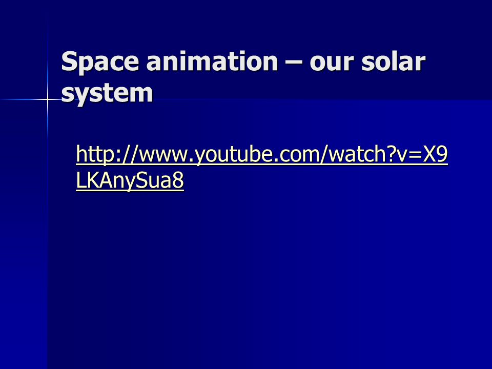 Space animation – our solar system
