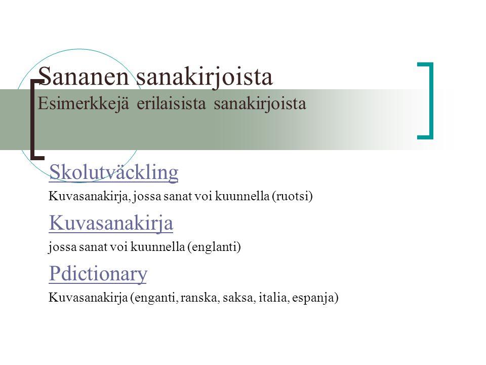Online englanti suomi sanakirja