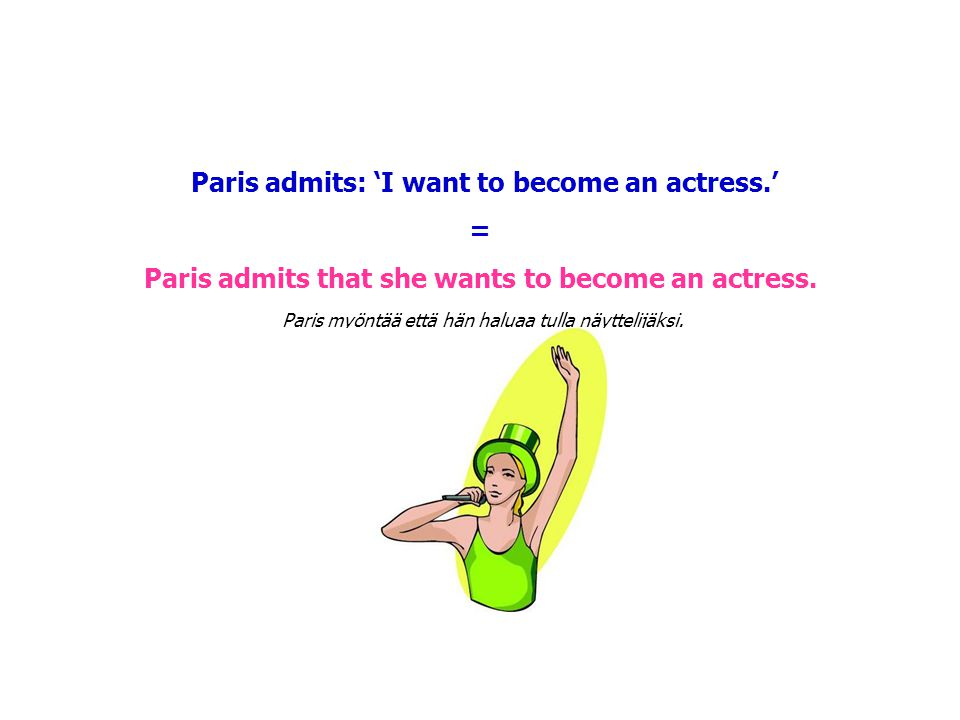 Paris admits: 'I want to become an actress.' =