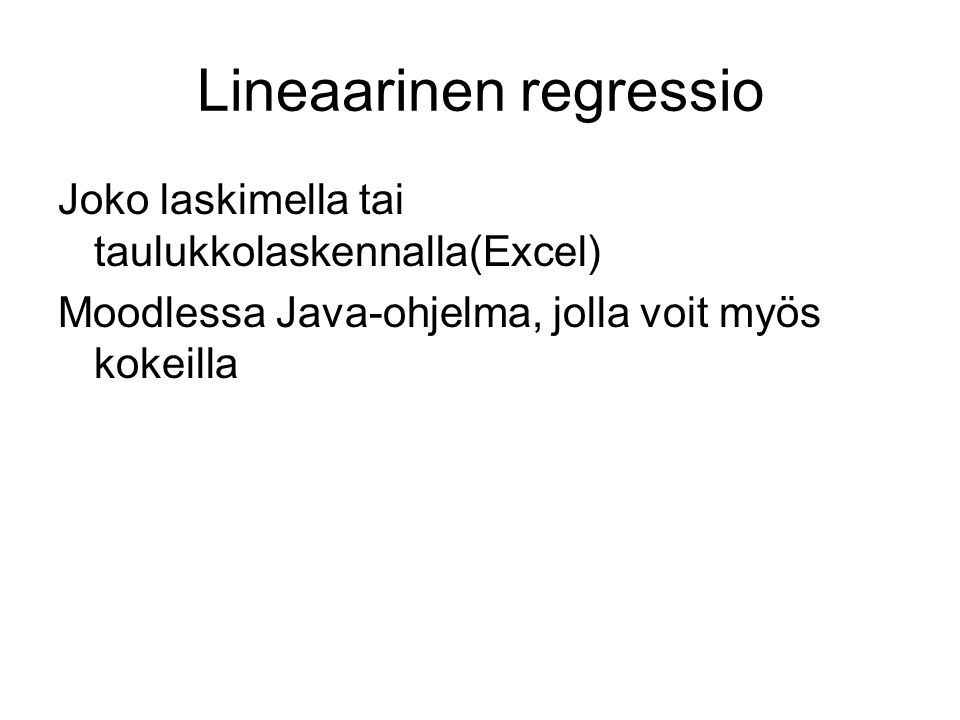 Lineaarinen regressio