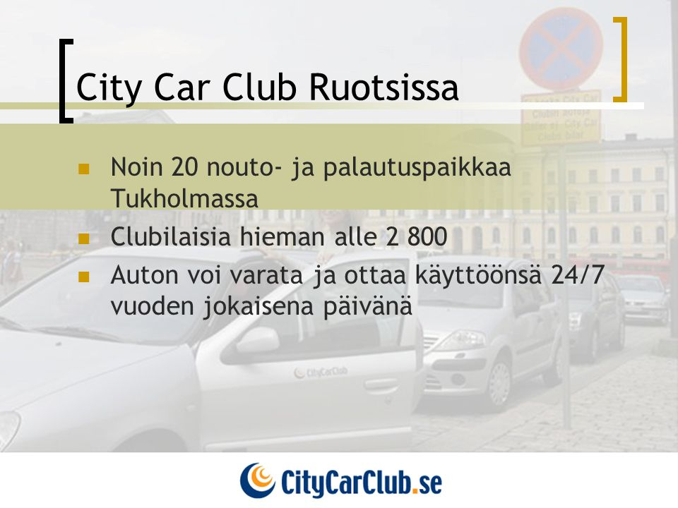 City Car Club Ruotsissa