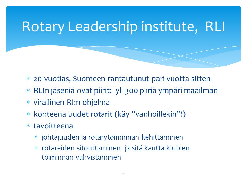 Rotary Leadership institute, RLI
