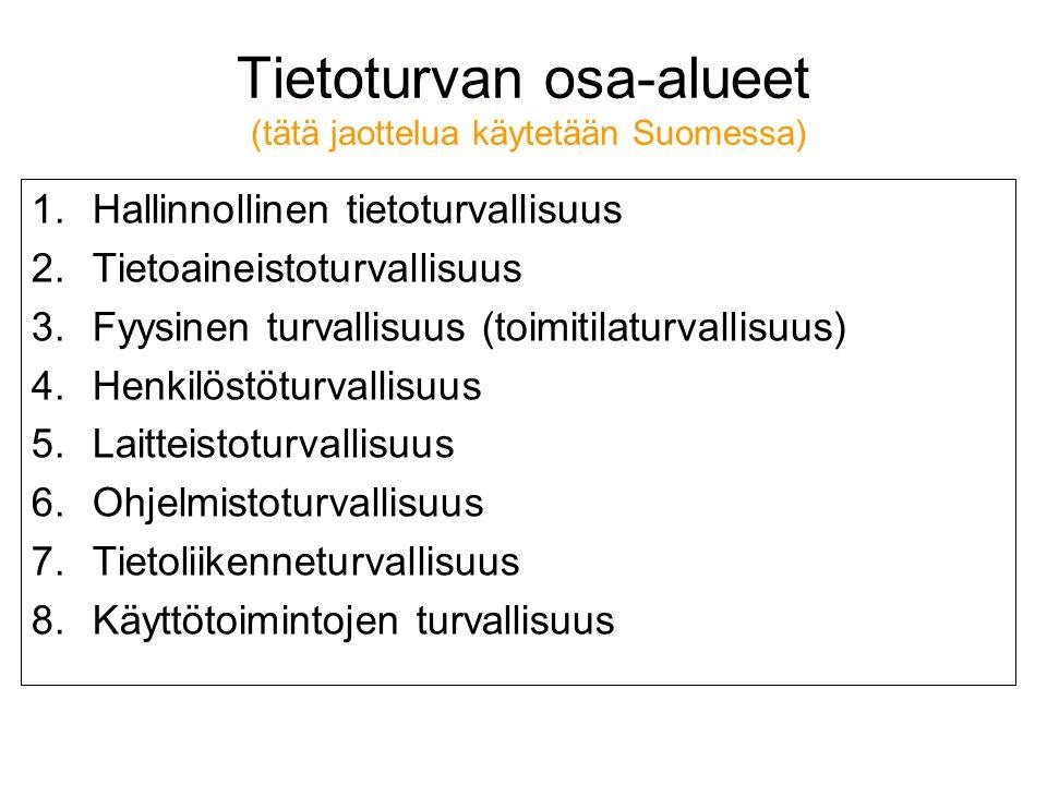 Web: ta.ramk.fi/~jouko.teeriaho Linkki: tietoturva - ppt lataa