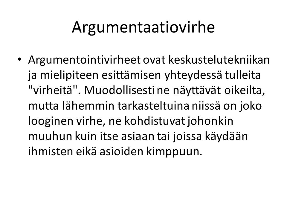 Argumentaatiovirhe