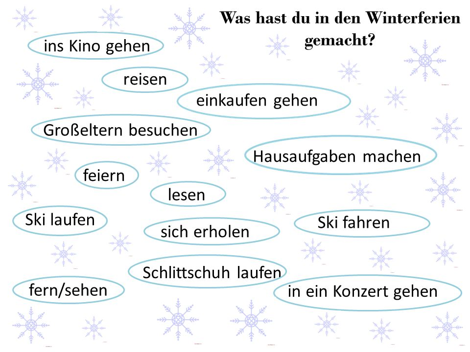 Was hast du in den Winterferien gemacht